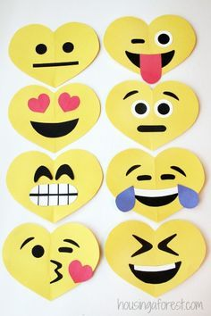 What child doesn't love emojis? These are great Valentines' for older kids to make!