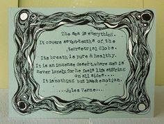 Original Illustration, Jules Verne Quote - 20,000 Leagues Under the Sea, Literature Art