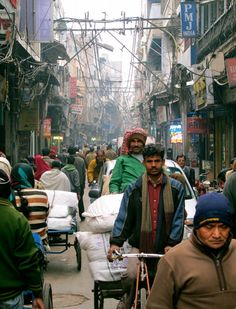 The frenetic streets of Old Delhi