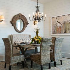 All American cottage dining room.