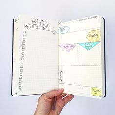 How to plan your blog posts in the Bullet Journal. Free printable template included. Click through to learn how and download the free printable.