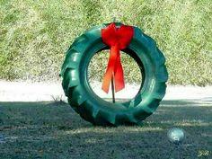 Tyre wreath!!