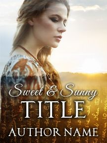 Sunny Field & Blonde Heroine - A Sweet and Sunlit Novel | Customizable Book Cover by RLSather | SelfPubBookCovers: One-of-a-kind premade book covers where Authors can instantly customize and download their covers, and where Artists can post a cover and name their own price.