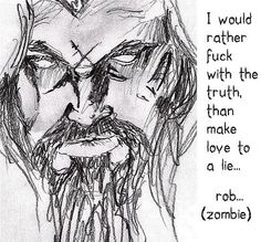 rob zombie photo: rob zombie such an old picture I had it on my MySpace lol Still Very True tho.