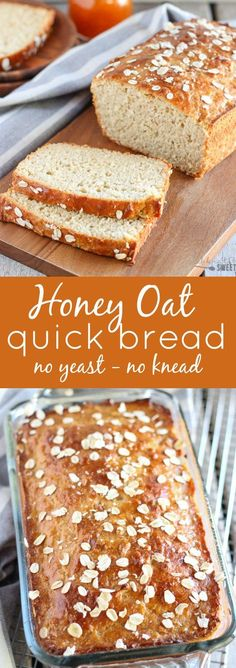 Honey Oat Quick Bread No yeast no knead ready in an hour! 2019 Honey Oat Quick Bread No yeast no knead ready in an hour! The post Honey Oat Quick Bread No yeast no knead ready in an hour! 2019 appeared first on Rolls Diy. Yeast Free Breads, Yeast Bread Recipes, Quick Bread Recipes, Bread Machine Recipes, Easy Bread, Honey Recipes, Wheat Bread Recipe No Yeast, Gluten Free Oat Bread, Bread Machine Recipe Without Yeast
