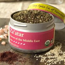 Deeply rooted in Middle Eastern cuisine, mothers will often refuse to give their personal Za'atar recipes to their own daughters! Our Za'atar has a base of lemony sumac berries with the addition of ma