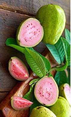 "Guava the Super- fruit <3 Guava is another tropical fruit rich in high-profile nutrients. With its unique flavor, taste, and health-promoting qualities, the fruit easily fits in the new functional foods category, often called ""super-fruits."" #vegan #fruit #Guava #tropical #superfuit #healthy #delicious #tsu  http://www.nutrition-and-you.com/guava.html"