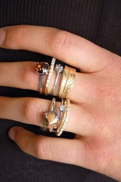 I need more rings, and then I need to artfully stack them. Like this.