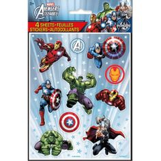 Marvel's Avengers Color Sticker Sheets [ 4 Per Package] | 30333885 | $2.99