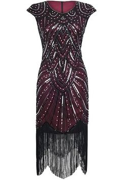 Fringed dresses that were probably taken from Zelda Fitzgerald's closet. | 29 Of The Best Formal Dresses You Can Get On Amazon