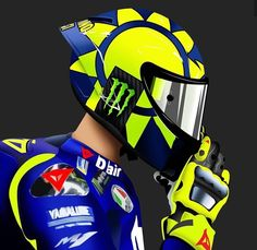Cool Motorcycle Helmets, Racing Helmets, Racing Motorcycles, Auto Racing, Drag Racing, Valentino Rossi Logo, Motogp Valentino Rossi, Motocross, Biker Boys
