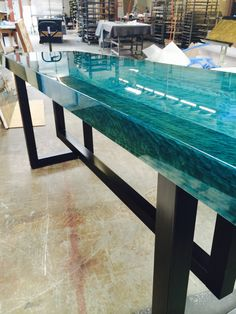 Reading table ccoating ocean blue   Www.genesispd.nl