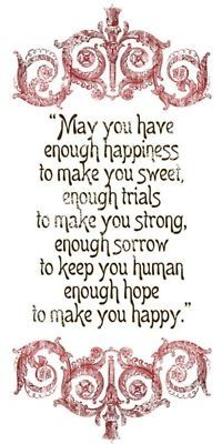 Enough Happiness, trials and sorrow!