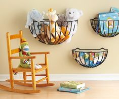 Garden basket storage and 11 more ideas. These don't need to be just for toys.