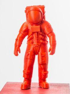 Spaceman Astronaut 3d printed on XYZprinting da Vinci 1.0Jr printer