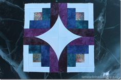 Curve it Up – Log Cabin Block 7 - Offset log cabin so not to have to trim off the fabric on the light side / dark fabric