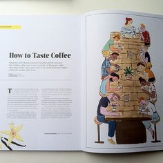 It's always such a pleasure to make illustrations for @readlagom, and coming back from japan frazzled and jetlagged to this beautiful new issue was such a joy✌️ this article is written by the amazing coffee guru Jason Gonzalez of @onyxtonics 🙏☕️
