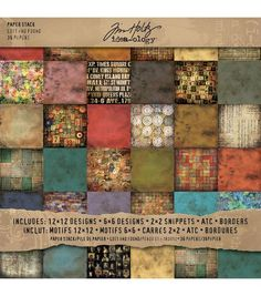 Tim Holtz Idea-Ology Paper Stack Lost And Found
