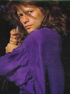 Jon Bon Jovi I him in purple! Jon Bon Jovi, Purple Love, All Things Purple, Shades Of Purple, Deep Purple, Most Beautiful Man, Beautiful People, Bon Jovi Always, Soundtrack To My Life