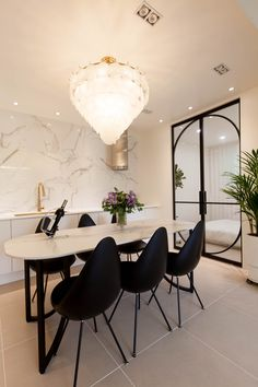 [With_marble] seramic table Conference Room, Dining Chairs, Interior Design, Table, Boards, Furniture, Home Decor, Nest Design, Planks