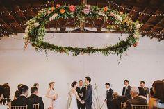 wedding altar flower ring - lindsay coletta