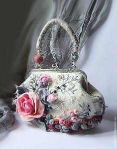 Валяные арт-сумки «Весна под рукой» Чувствовал Сумки, Кошелёк Из Войлока, 56d34176540