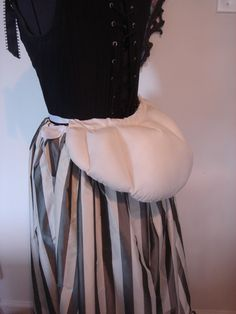 how to make a bustle pillow | Madame Modiste Historic-ish Costuming (drinking champagne while ...
