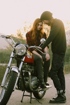 Motorcycle engagement outfit