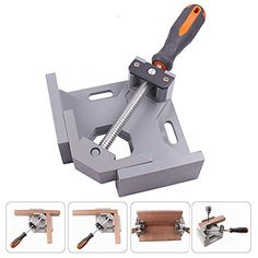 Windaze 90 Degree Right Angle Clamp Vise Woodworking Frame Clip Holder Tool Aluminum Alloy-Single Handle - #woodworking, #wood, #diy, #design, #woodwork