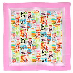 Amazingly Colorful Chanel Silk Scarf | See more vintage Scarves at http://www.1stdibs.com/fashion/accessories/scarves in 1stdibs