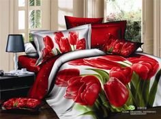 Classy and fashion Floral Bedding Sets online shopping site 3d Bedding Sets, King Size Bedding Sets, Cotton Bedding Sets, Red Bedding, Floral Bedding, Bedding Sets Online, Bed Linen Sets, White Bedding, Linen Bedding