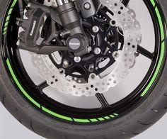 Stylish wheel rim ring set for 1 bike.<br />Non Kawasaki branded product.
