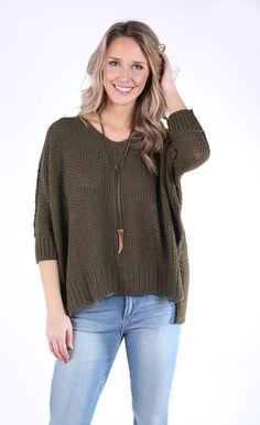 Daydream Believer Sweater - Olive