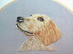 Custom embroidery pet portrait