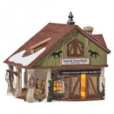 Department 56 - New England Village - South Deerfield Livery Stable   Department 56 Villages, Free Shipping on Dept 56
