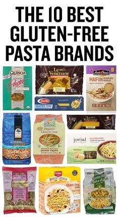 A list of the best gluten-free pasta brands, including the best gluten-free spaghetti noodles and the best gluten-free lasagna noodles. Gluten Free Bread Brands, Gluten Free Food List, Best Gluten Free Recipes, Foods With Gluten, Gluten Free Products, Pasta Brands, Gluten Free Noodles, Fusilli, Spaghetti Noodles