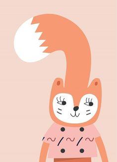 Little Otja poster squirrel 29.7 x 42 cm | PSikhouvanjou