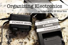 Great ideas for organizing all those silly power cords. Do those nice labelers go on sale at Michaels?