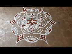 Indian Rangoli Designs, Rangoli Designs Latest, Rangoli Border Designs, Colorful Rangoli Designs, Rangoli Designs Images, Beautiful Rangoli Designs, Rangoli Simple, Small Rangoli, Ruby Necklace Designs