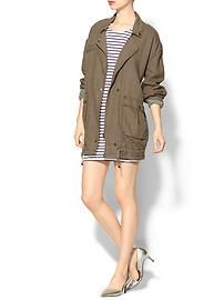 Free People Rugged Embroidery Linen Twill Coat