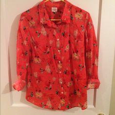 J crew perfect shirt Beautiful flower j crew shirt! Like new. No issues. J. Crew Tops Button Down Shirts