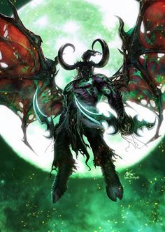 WOW-Illidan Stormrage – fan art by InHyuk Lee