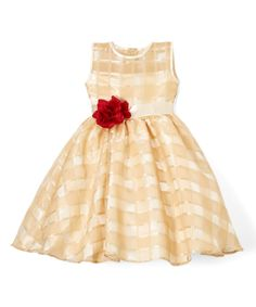 Gold Quilted Dress - Infant, Toddler & Girls