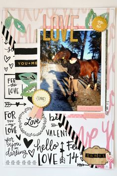 Love Emmet- A4 scrapbook page with Crate Paper & WeRMK - Life of Julia