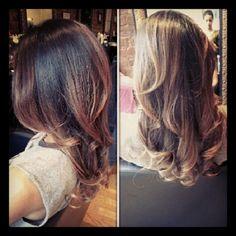 Blowout w curls