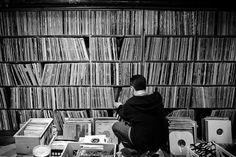 Haruki Murakami's impressive vinyl collection.