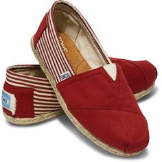 TOMS University Rope Sole Classic Red (Women) 8.5 - Polyvore