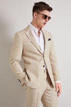 Tan Suit Wedding, Tuxedo Wedding, Wedding Tuxedos, Mens Summer Wedding Suits, Beach Wedding Men Outfit, Beach Wedding Suits, Linen Suits For Men, Mens Suits, Tan Suit Men