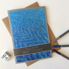 Blue Herringbone Birthday Card with photography of Harris Tweed - by Juniper & Jane Textiles - Made in Scotland Scottish Greetings, Birthday Cards, Happy Birthday, Harris Tweed, Herringbone, Scotland, Greeting Cards, Textiles, How To Make