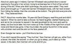 """""""They Hurt Her"""" - A Cautionary Tale About Bullying: The Death of David Gregory"""